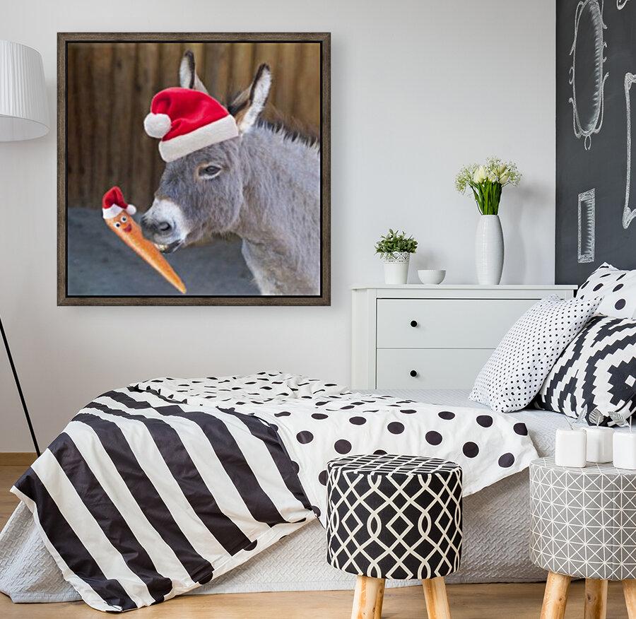 Donkey with Santa hat  Art