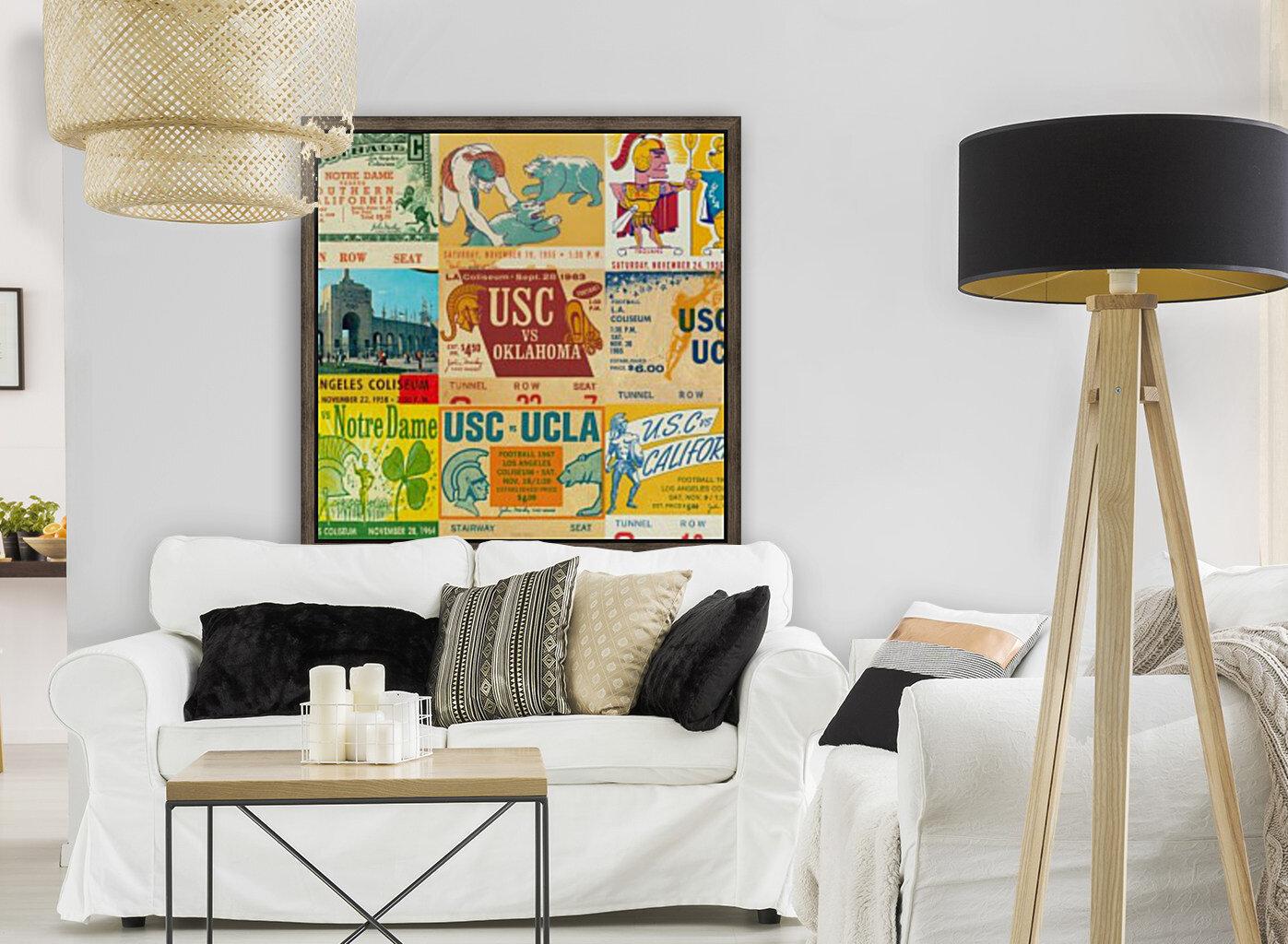 USC Trojans Football Ticket Stub Collage  Art
