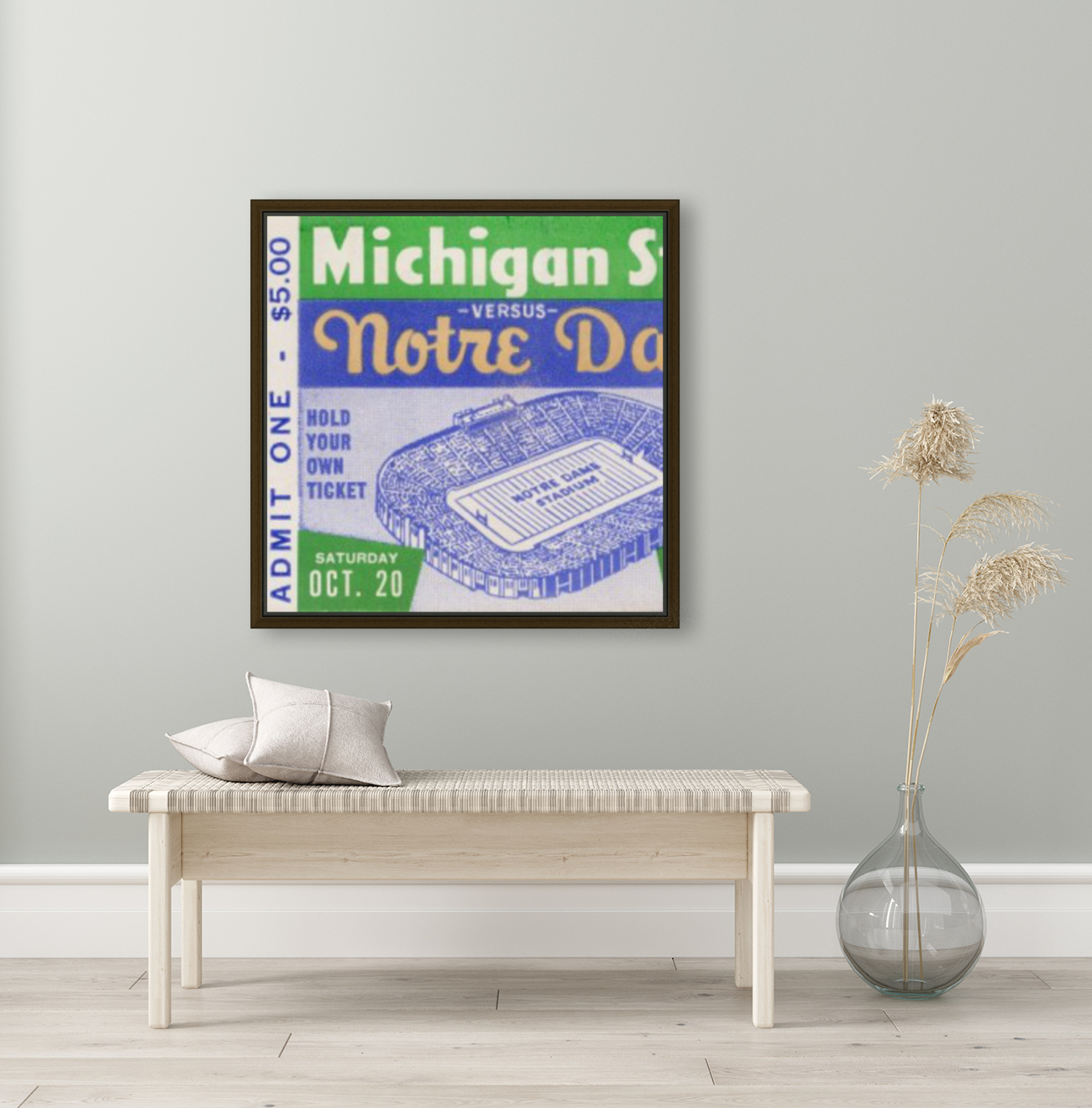 1956 Michigan State vs. Notre Dame  Art