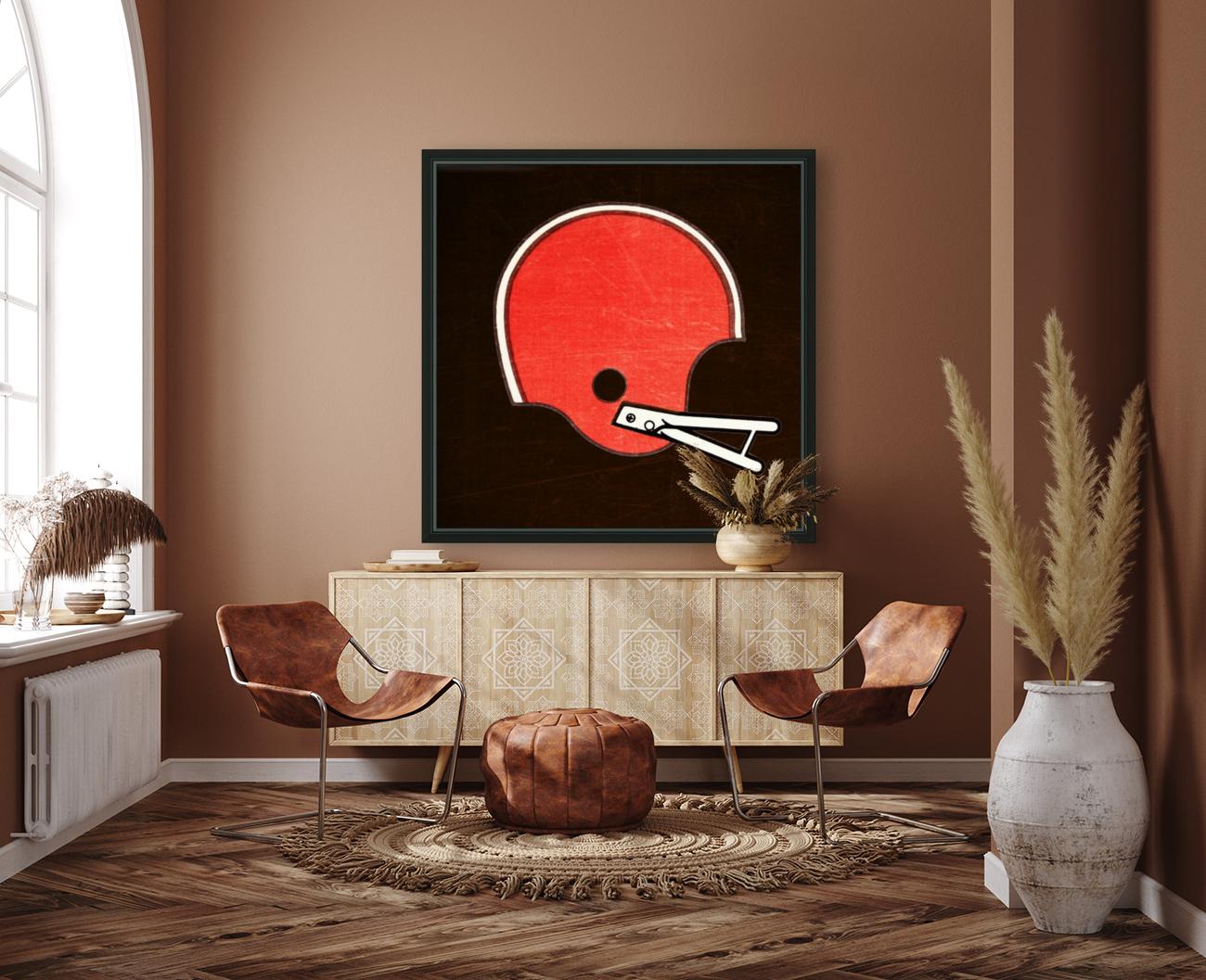 1982 Cleveland Browns Helmet Art  Art