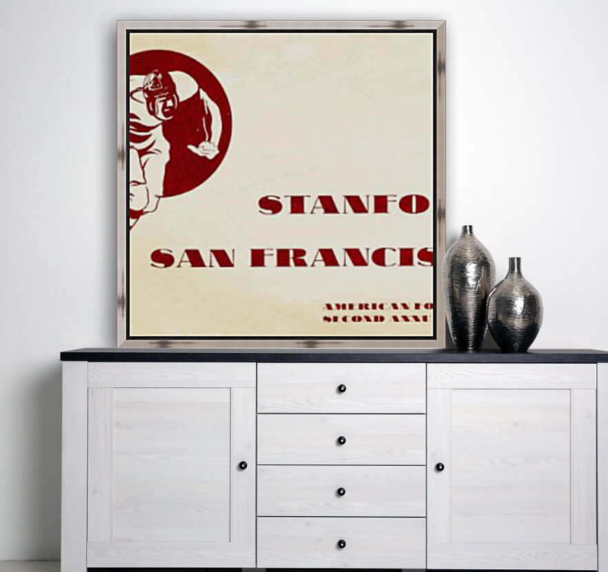 1933 Stanford vs. San Francisco American Football  Art