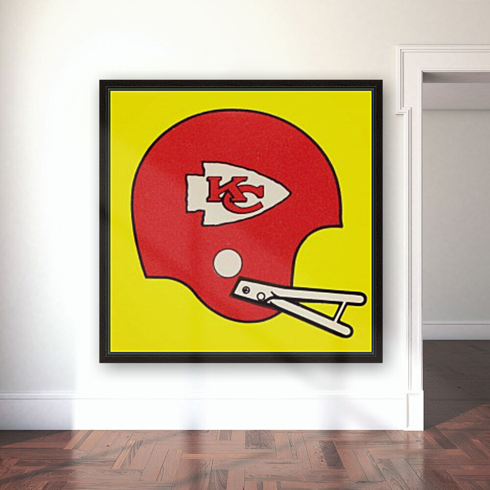 1982 Kansas City Chiefs Helmet Art  Art