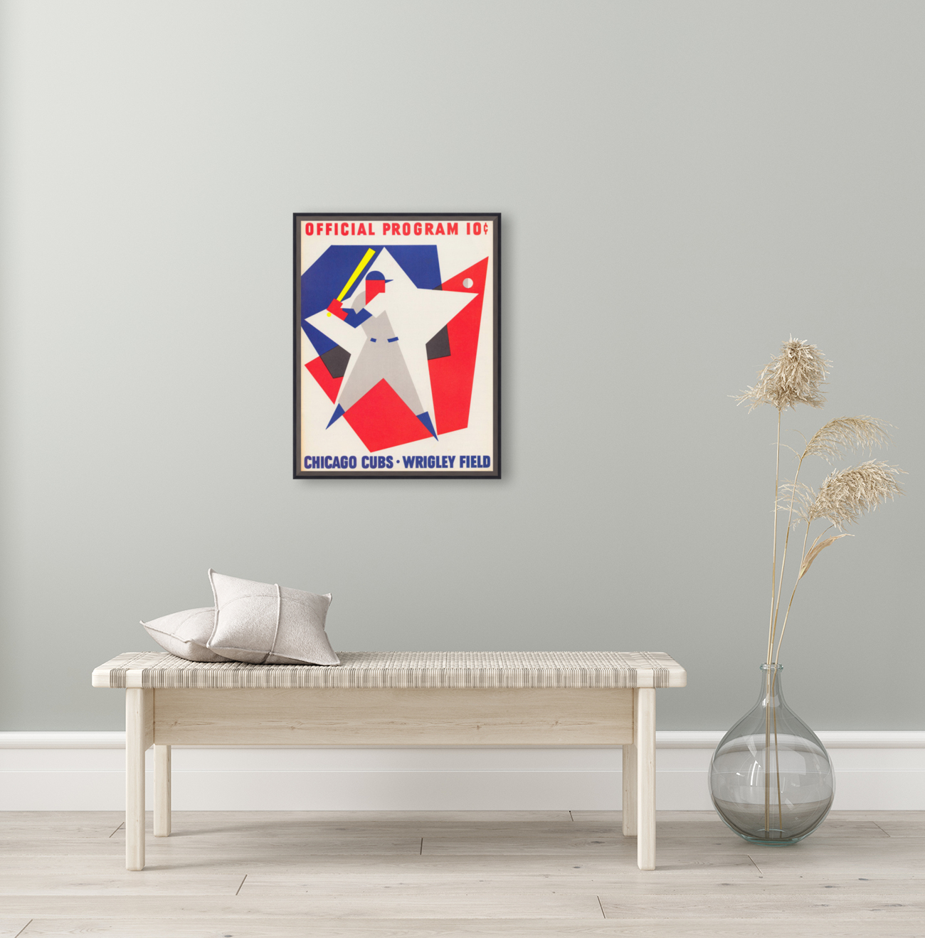 1964 Chicago Cubs Scorecard Wall Art  Art