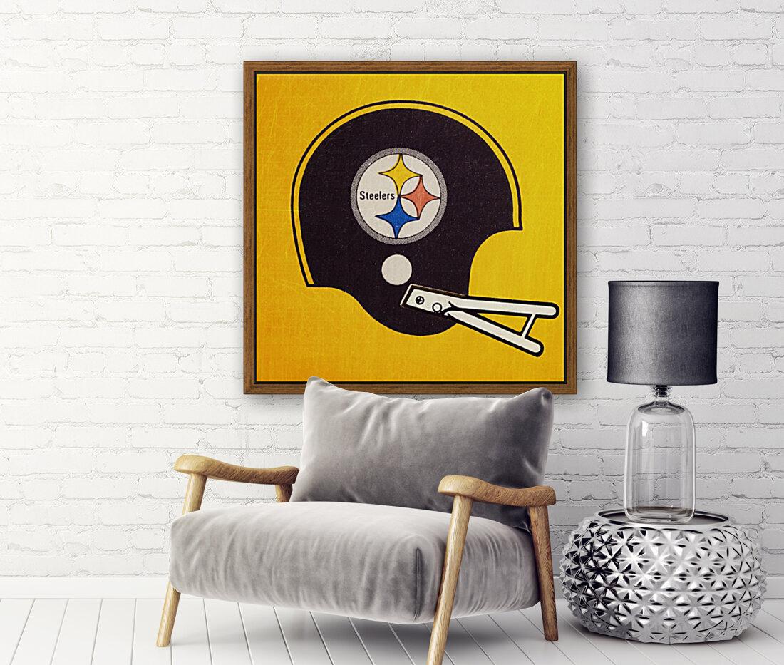 Vintage Pittsburgh Steelers Football Helmet Art  Art