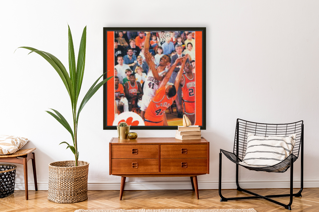 1988 Clemson Tigers Eldon Campbell with Floating Frame