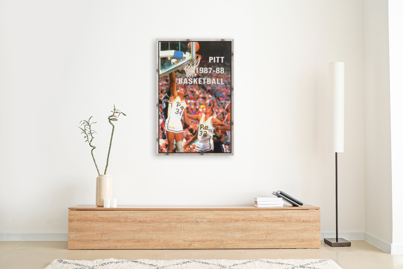 1987 Pitt Panthers Basketball with Floating Frame