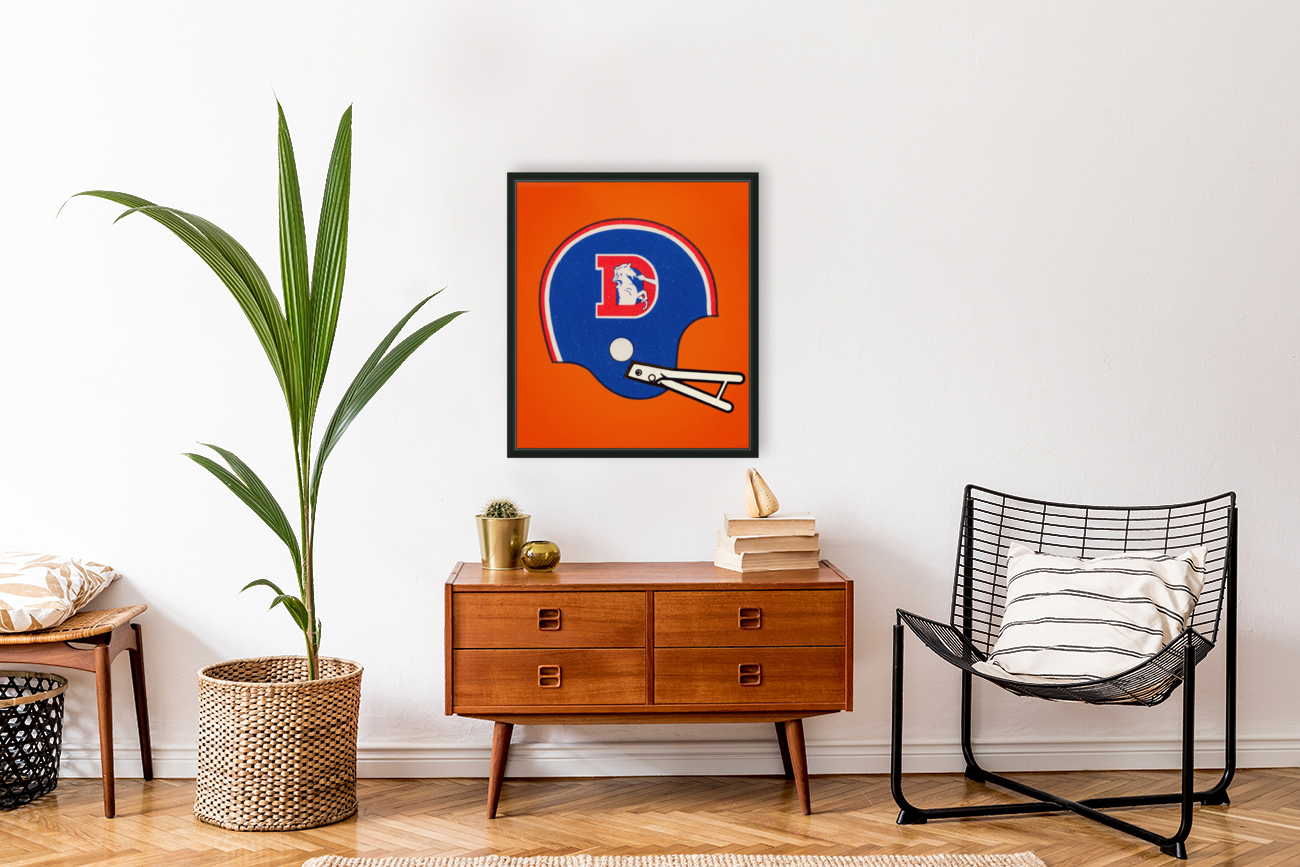 1982 Denver Broncos Football Helmet Art  Art