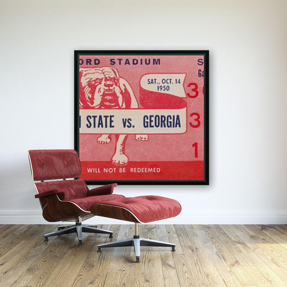 1950 Mississippi State vs. Georgia  Art