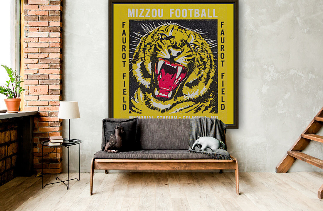 1977 Mizzou Football  Art