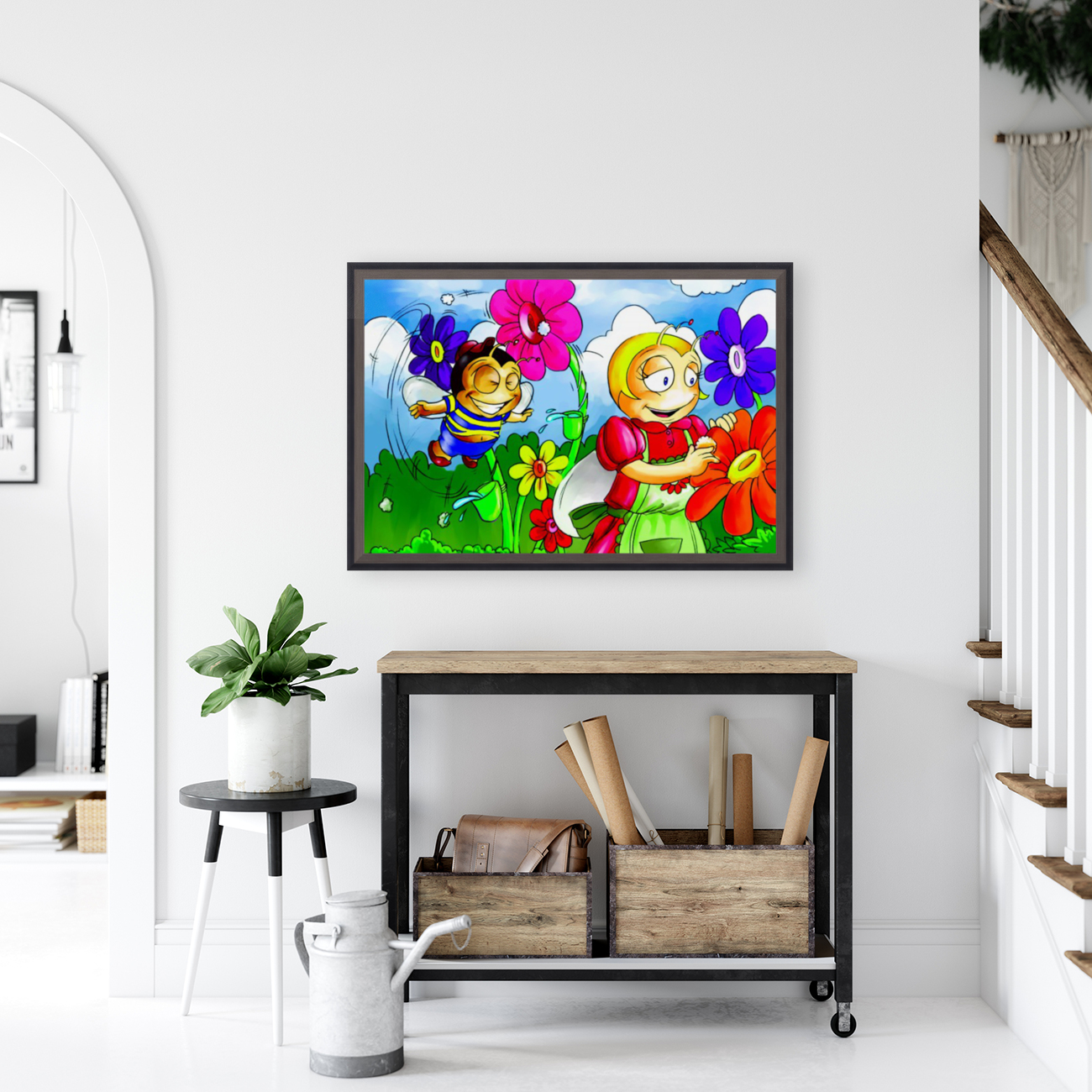 Mother Bee at Work - Bugville Critters  Art