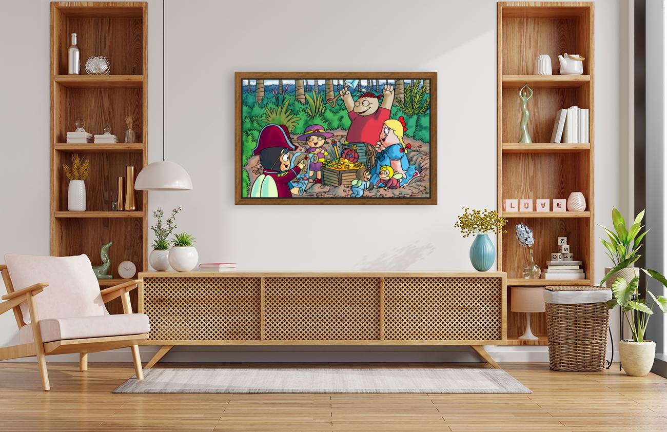 Hidden Treasure - Pirates - Bugville Critters  Art