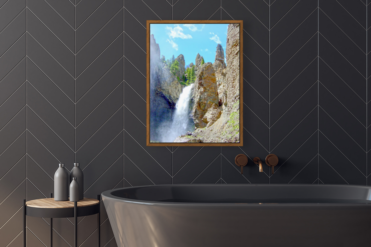 Yellowstone Waterfall - Grand Canyon of the Yellowstone River - Yellowstone National Park  Art