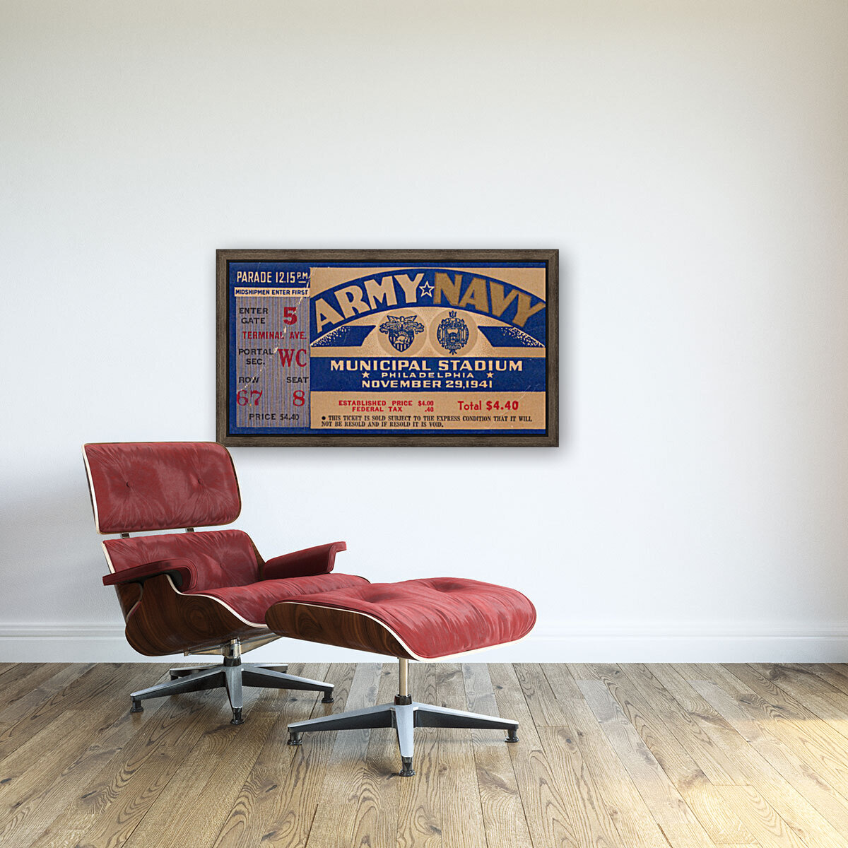 1941 Army Navy Game  Art