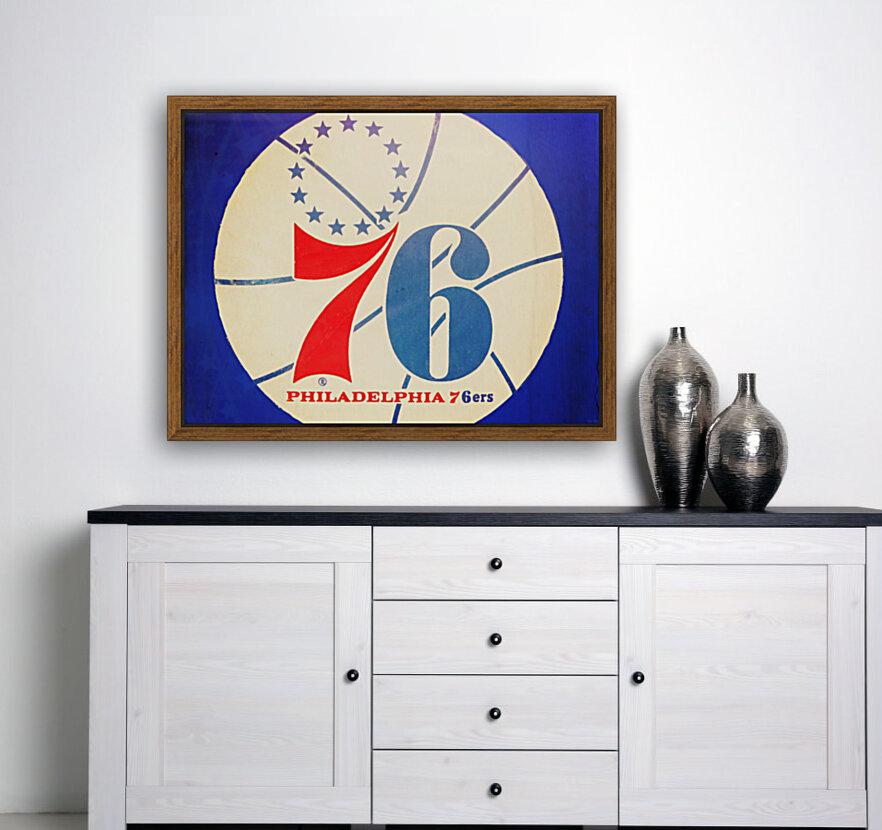 Vintage Philadelphia 76ers Art  Art