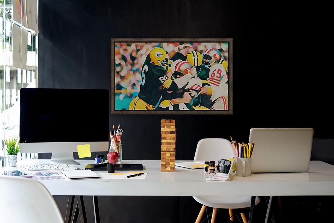 Vintage Green Bay Packers Art Digital Painting  Art