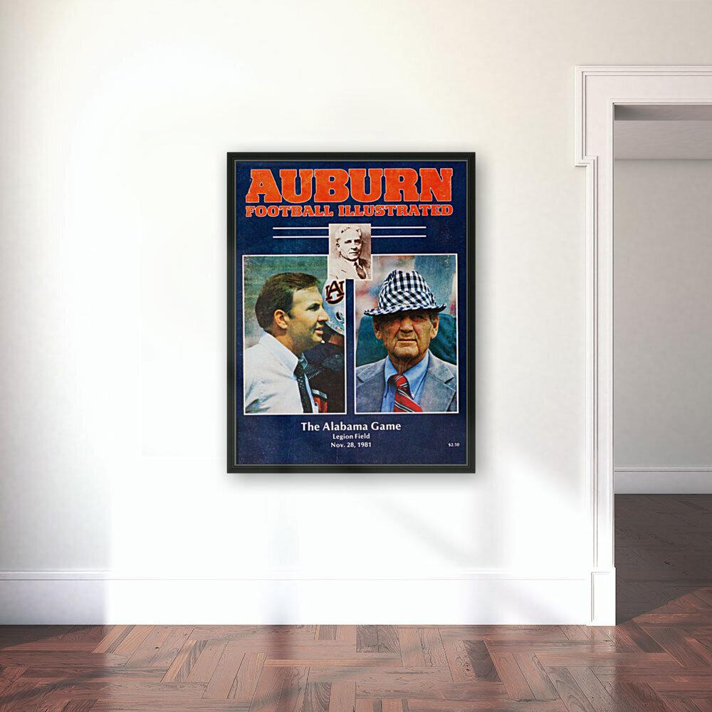 1981 Alabama vs. Auburn Program Cover  Art