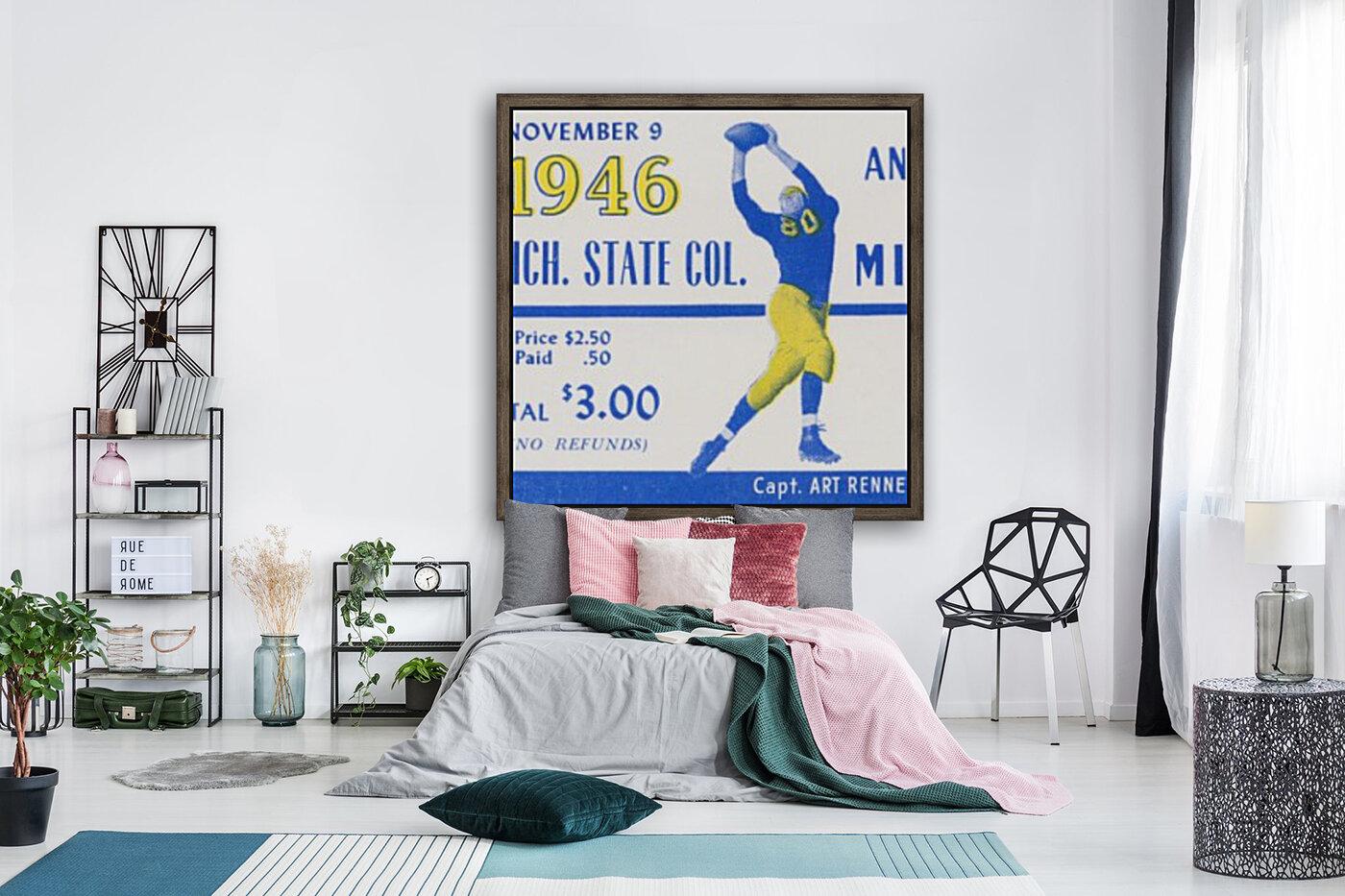 1946 Michigan vs. Michigan State  Art