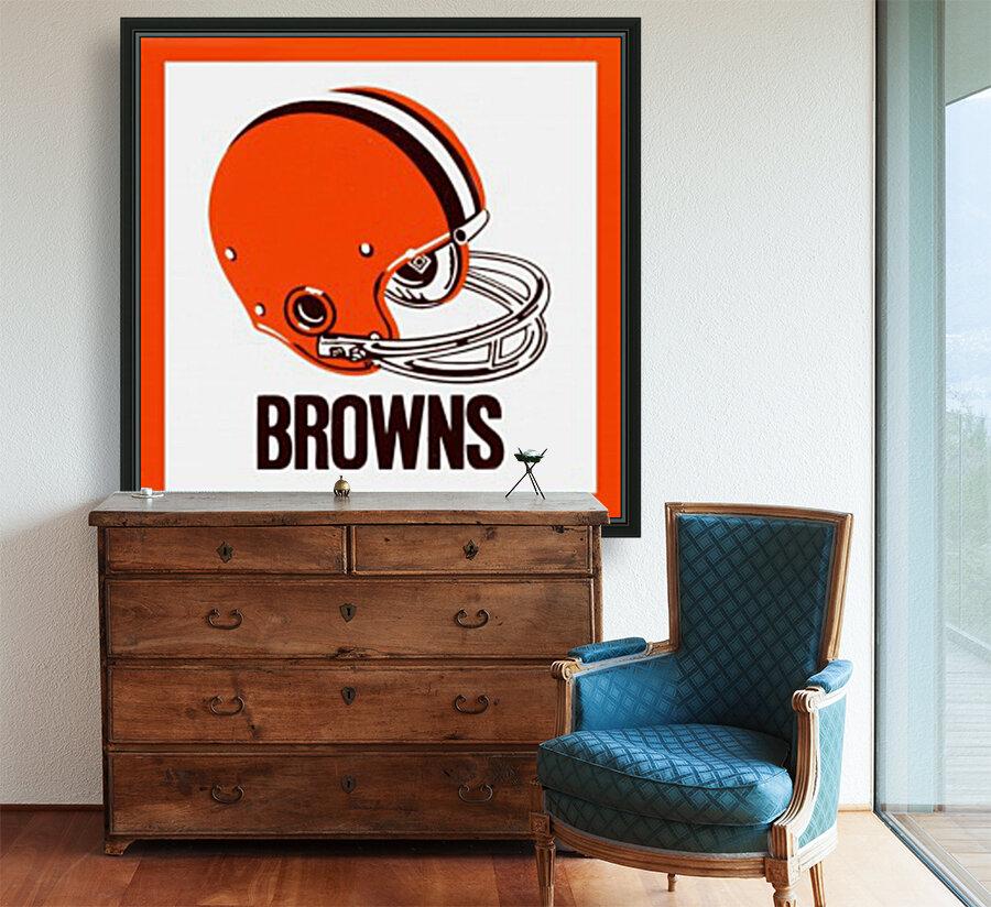 1971 Cleveland Browns Helmet  Art