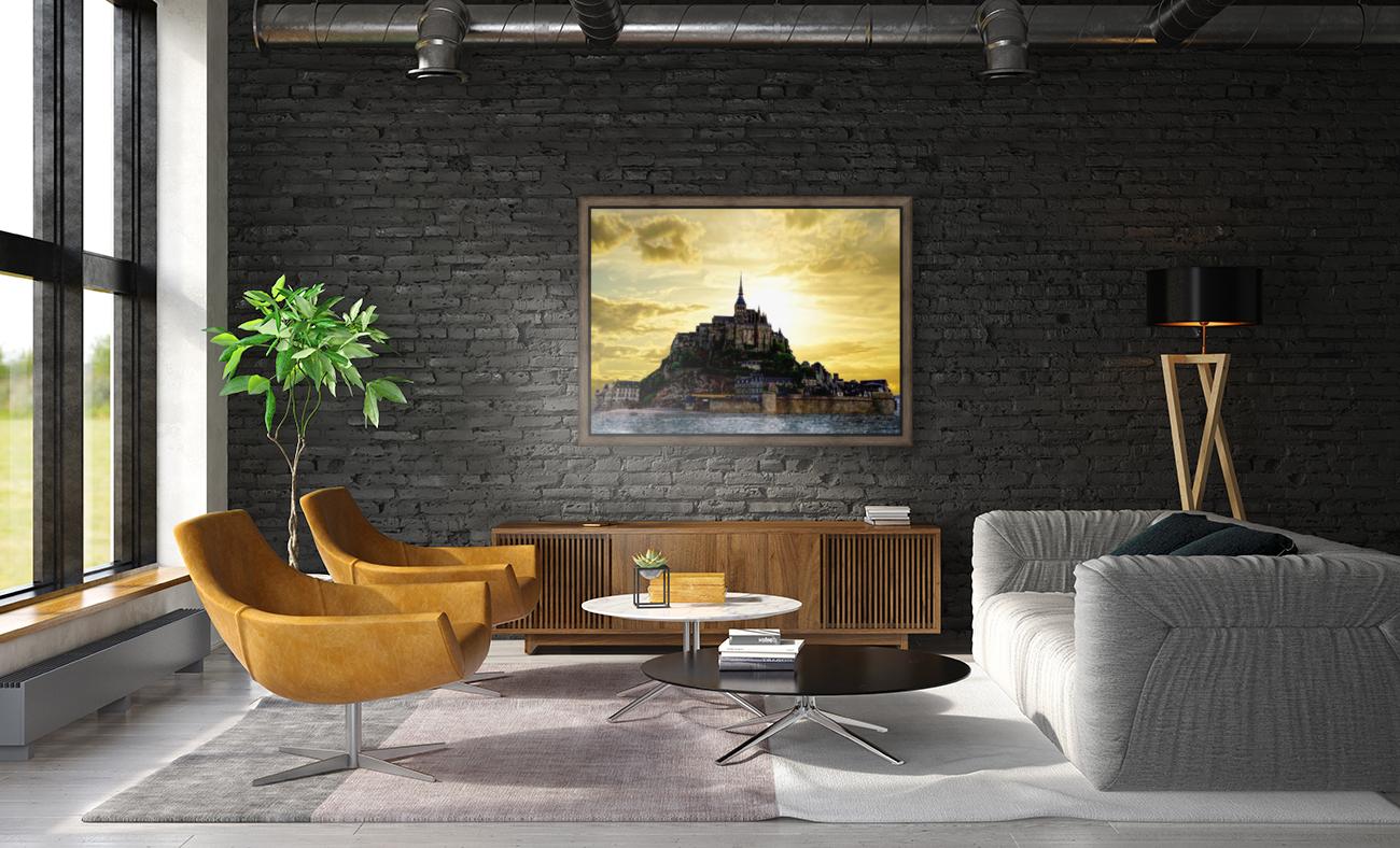 Golden Mont St Michel  Art