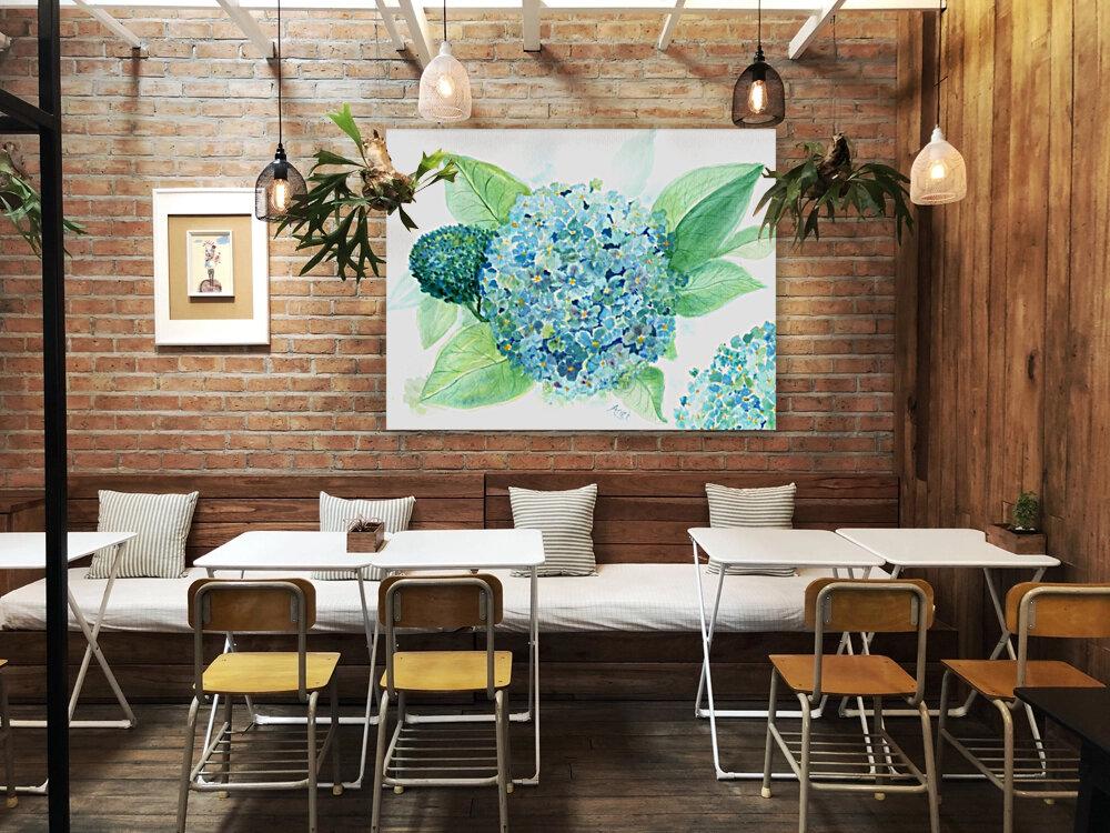 Lovely Blue Hydrangia   Art