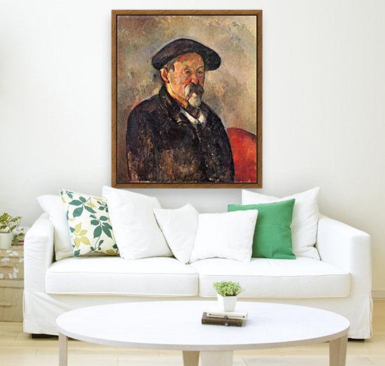 Self Portrait with Beret by Cezanne  Art
