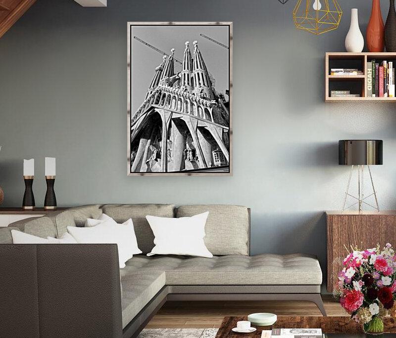Barcelona Cathedral - La Sagrada Familia in black and white  Art