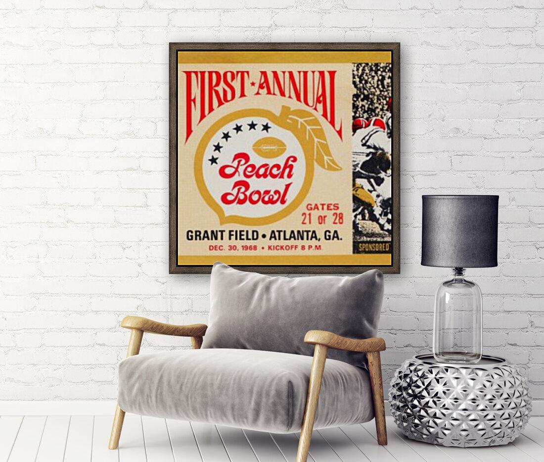 1968 First Peach Bowl LSU Win  Art