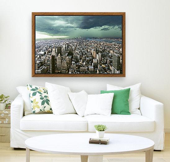 New-York under storm by Pagniez    Art