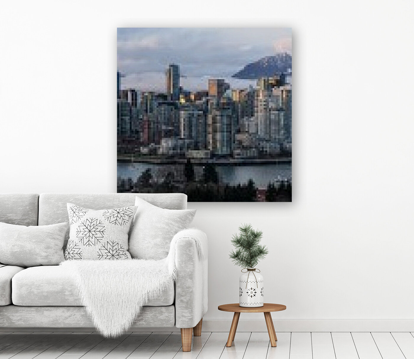 Vancouver Skyline Panorama  Art