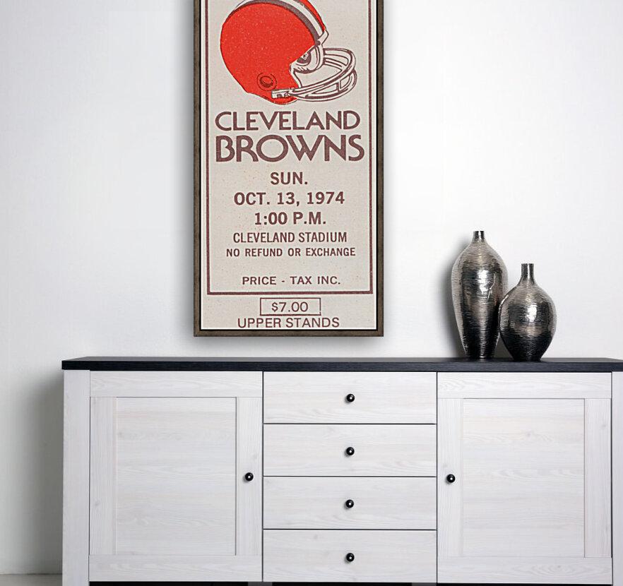 1974 Cleveland Browns Ticket Stub Art  Art