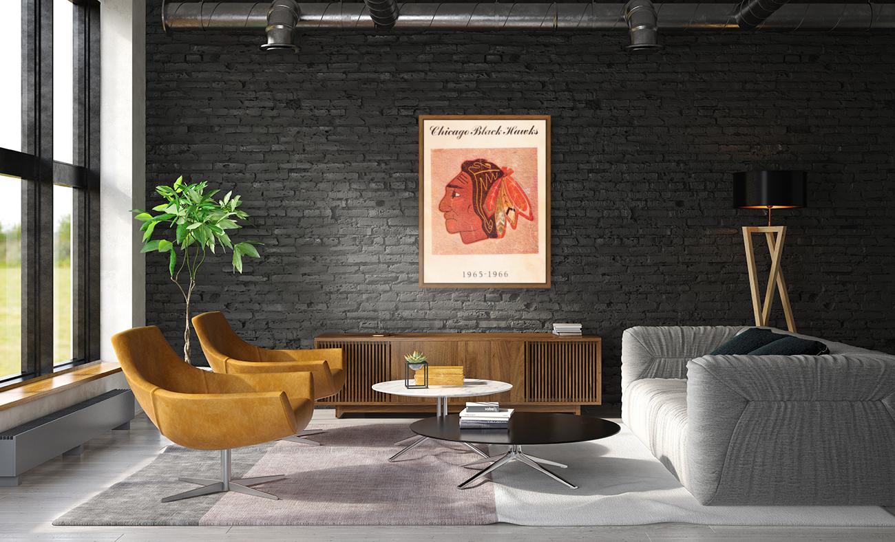 1965 Chicago Black Hawks Art  Art