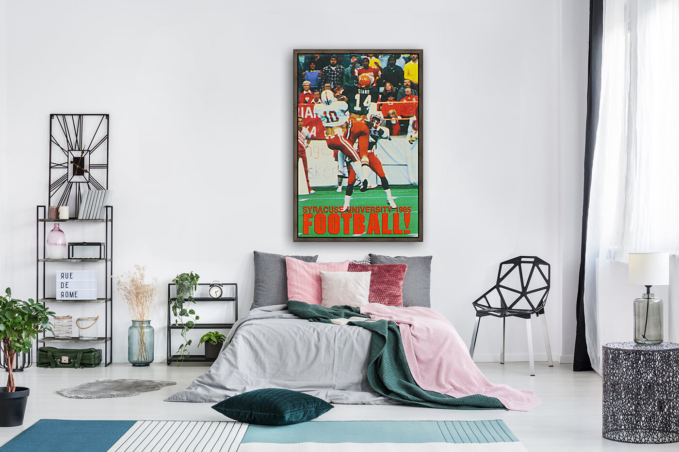 1985 Syracuse Orange Football Poster with Floating Frame