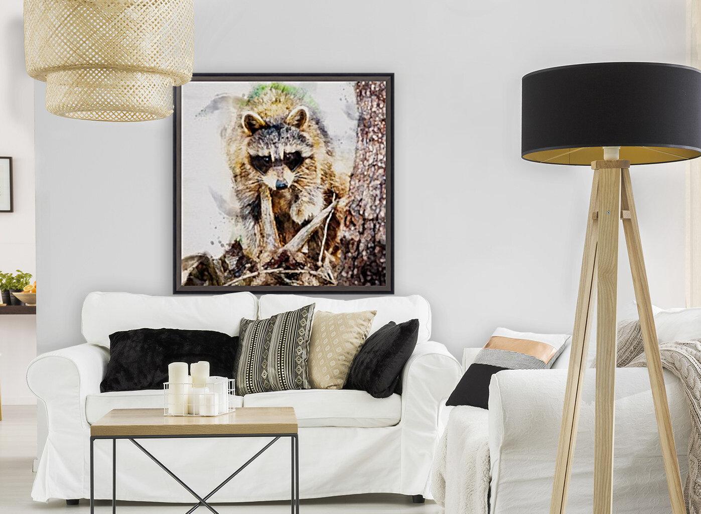 Raccoon In The Woods  Art