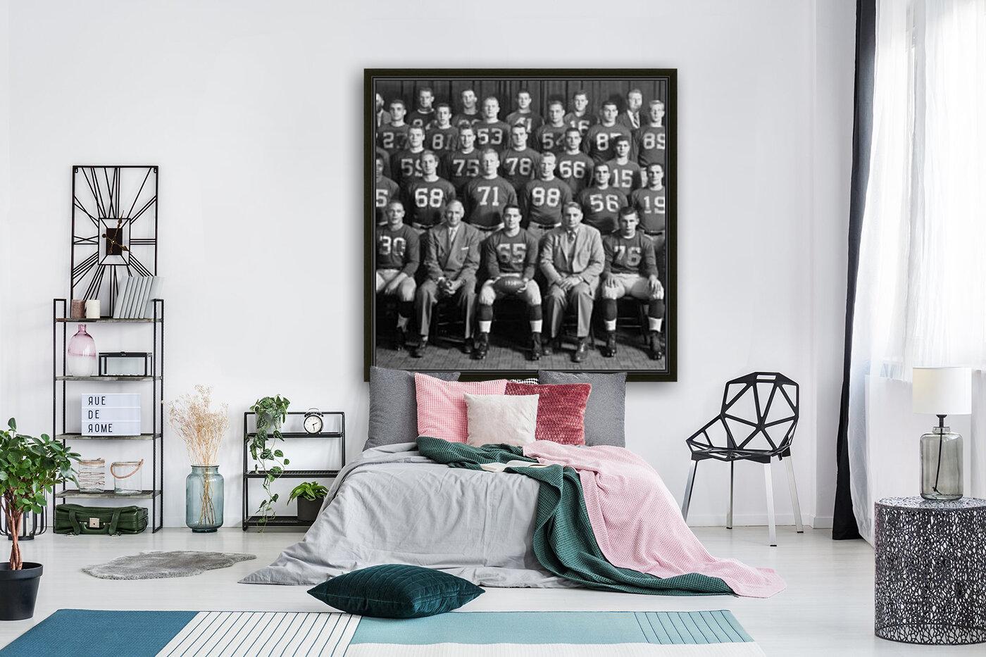 1954 University of Michigan Football Team Photo  Art