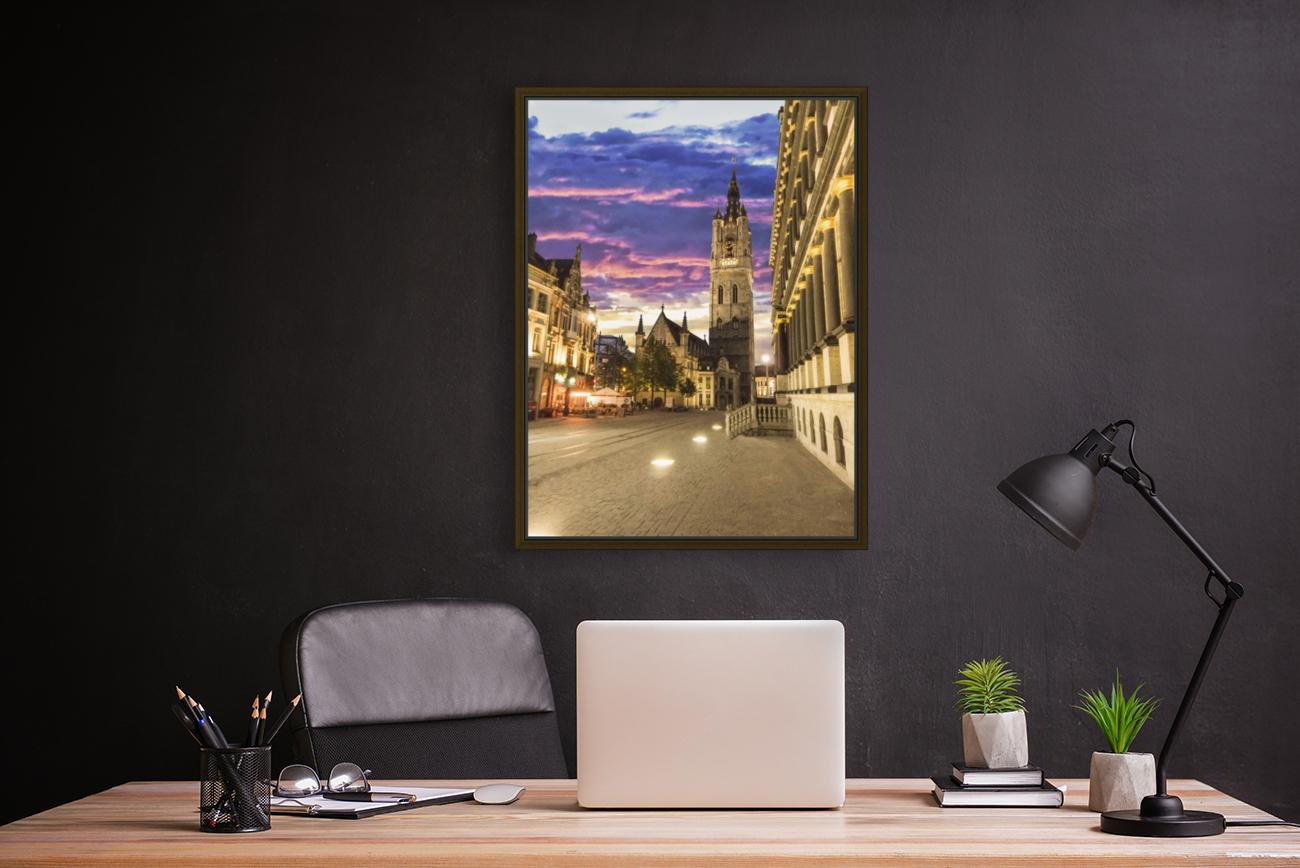 Sunset in Belgium  Art