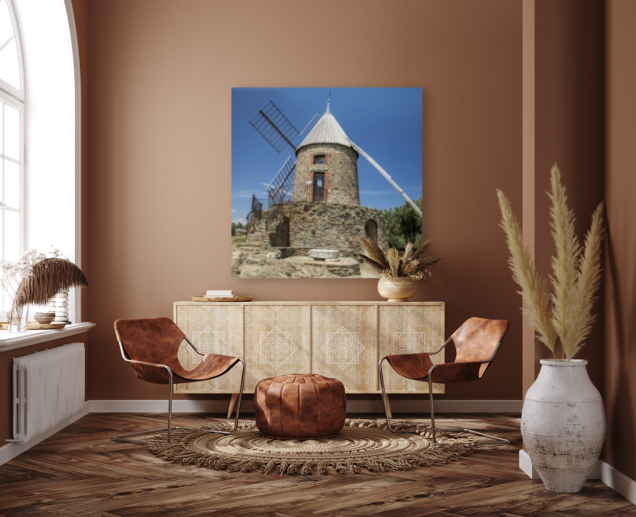 Moulin Collioure  with Floating Frame
