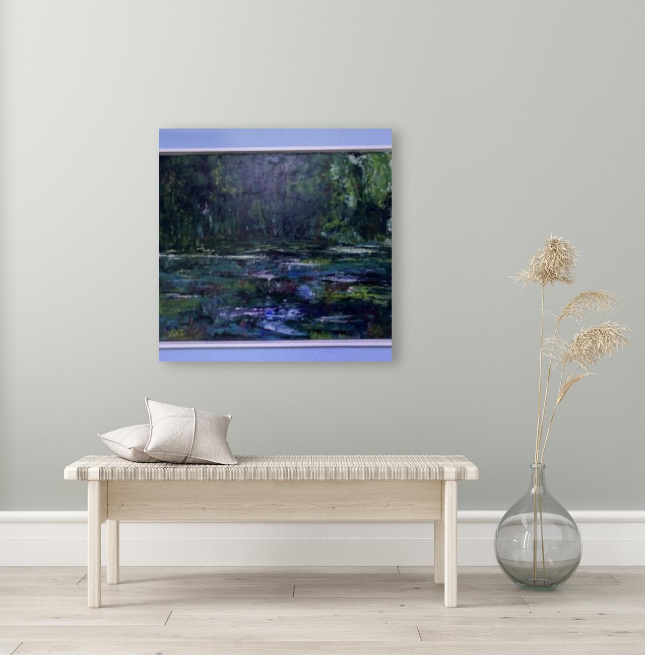 A swamp Concert  Acryl on Canvas 80x60  FRAMED   Art