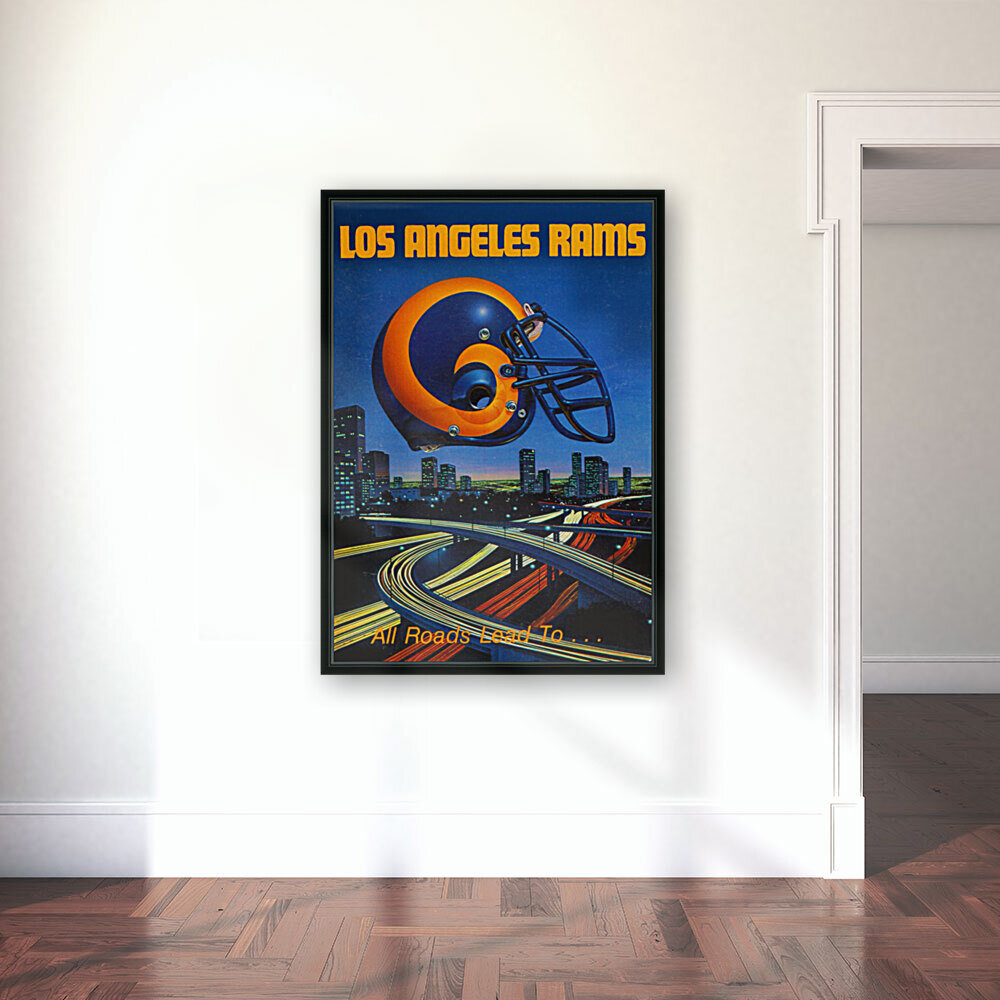 1983 Los Angeles Rams Football Poster  Art