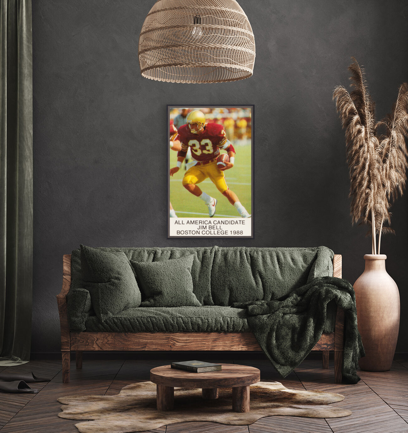 1988 Boston College Football Poster  Art
