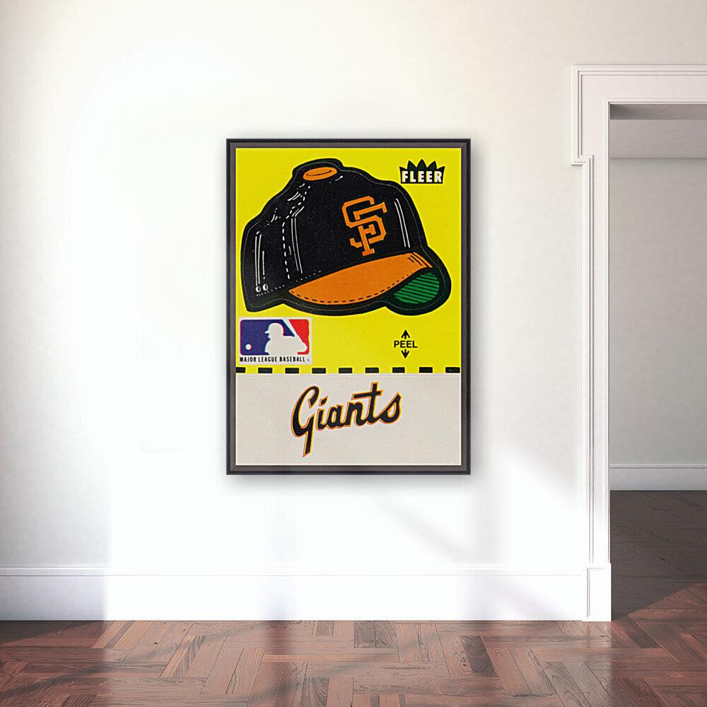 1981 San Francisco Giants Fleer Decal Poster  Art