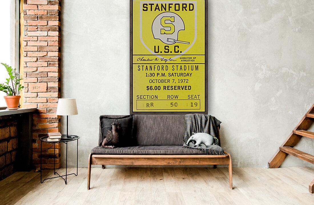 1972 Stanford vs. USC Ticket Stub Art  Art