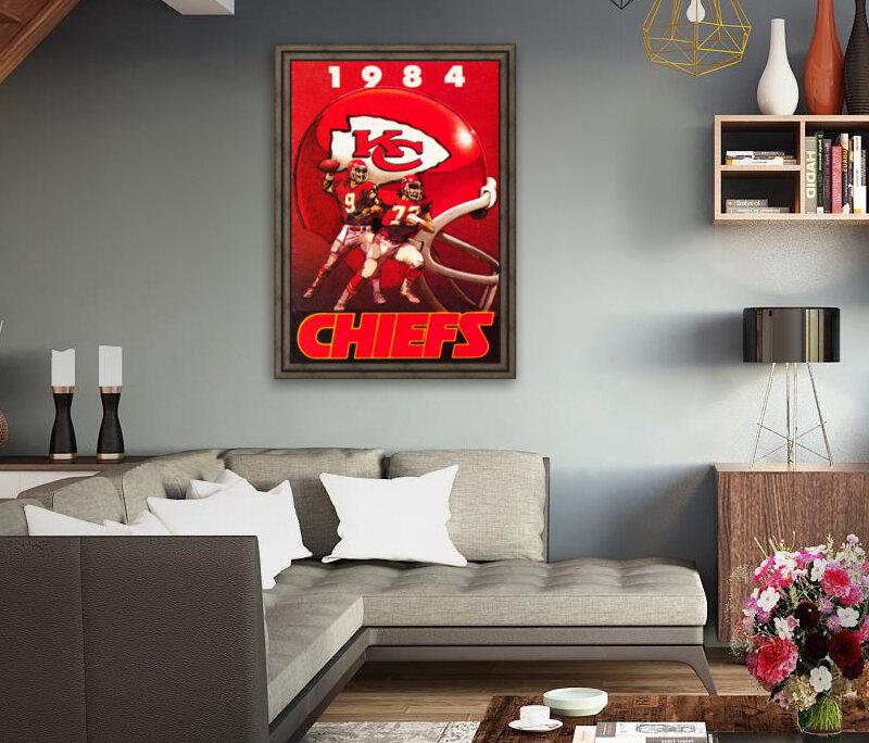 1984 Kansas City Chiefs Football Poster  Art
