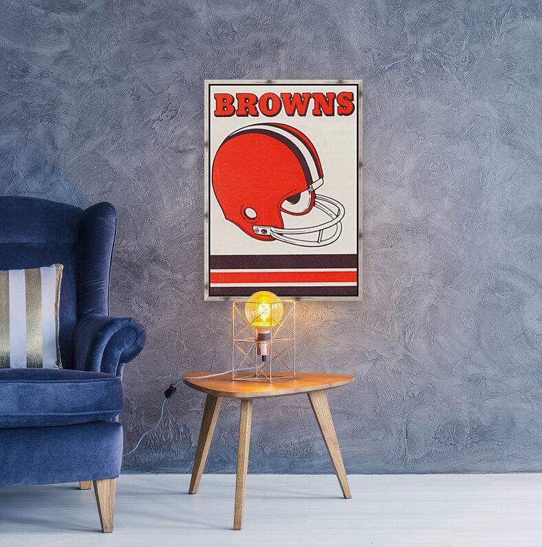 1975 Cleveland Browns Helmet Art  Art