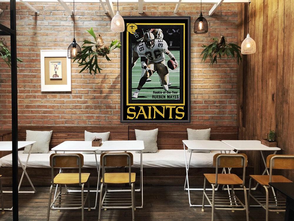 1988 New Orleans Saints Reuben Mayes Poster  Art