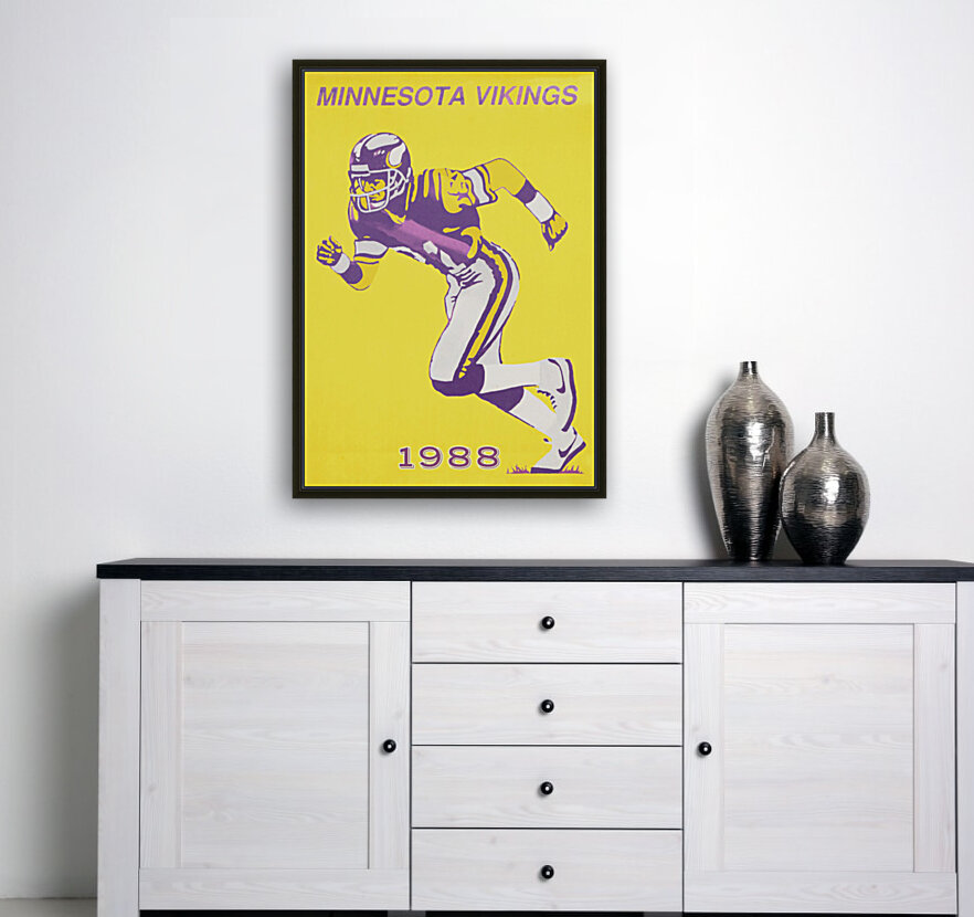 1988 Minnesota Vikings Football Poster  Art