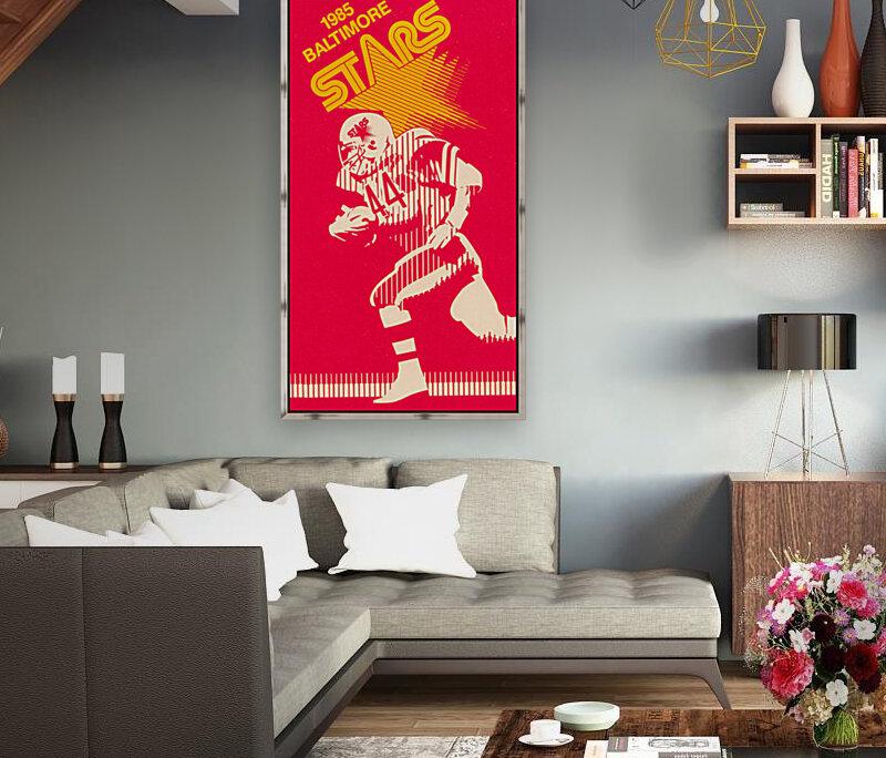 1985 Baltimore Stars USFL Football Art  Art