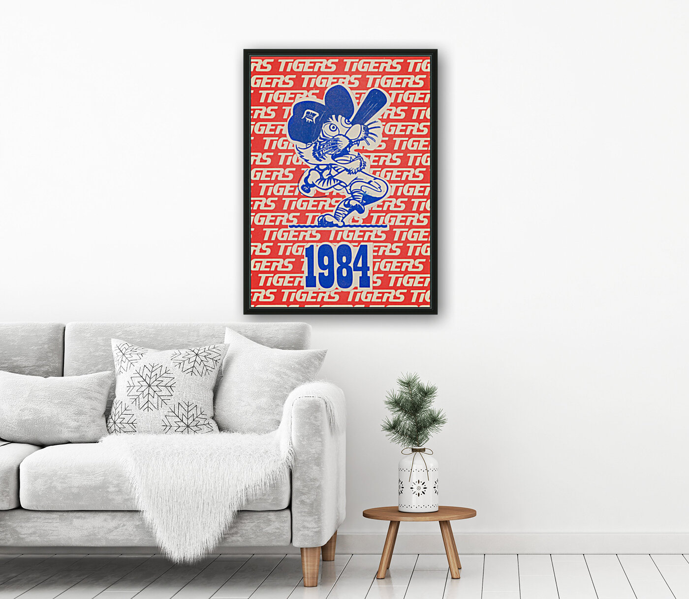 1984 Detroit Tigers Baseball Poster with Floating Frame