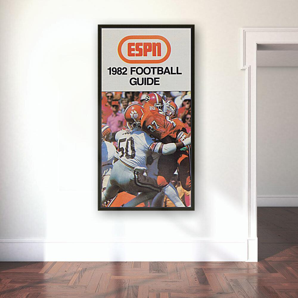 1982 ESPN College Football Guide Poster  Art