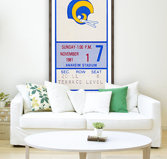 1981 Los Angeles Rams Ticket Stub Art with Floating Frame