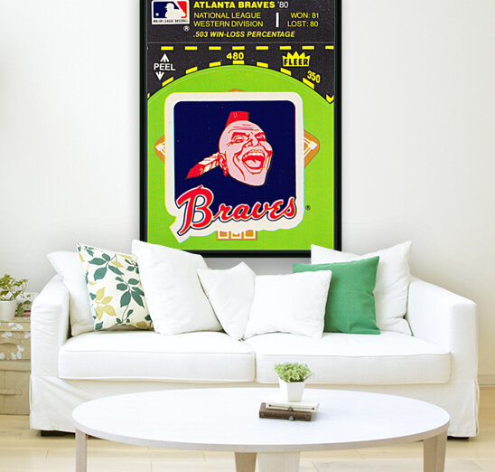 1981 Atlanta Braves Fleer Decal Poster  Art